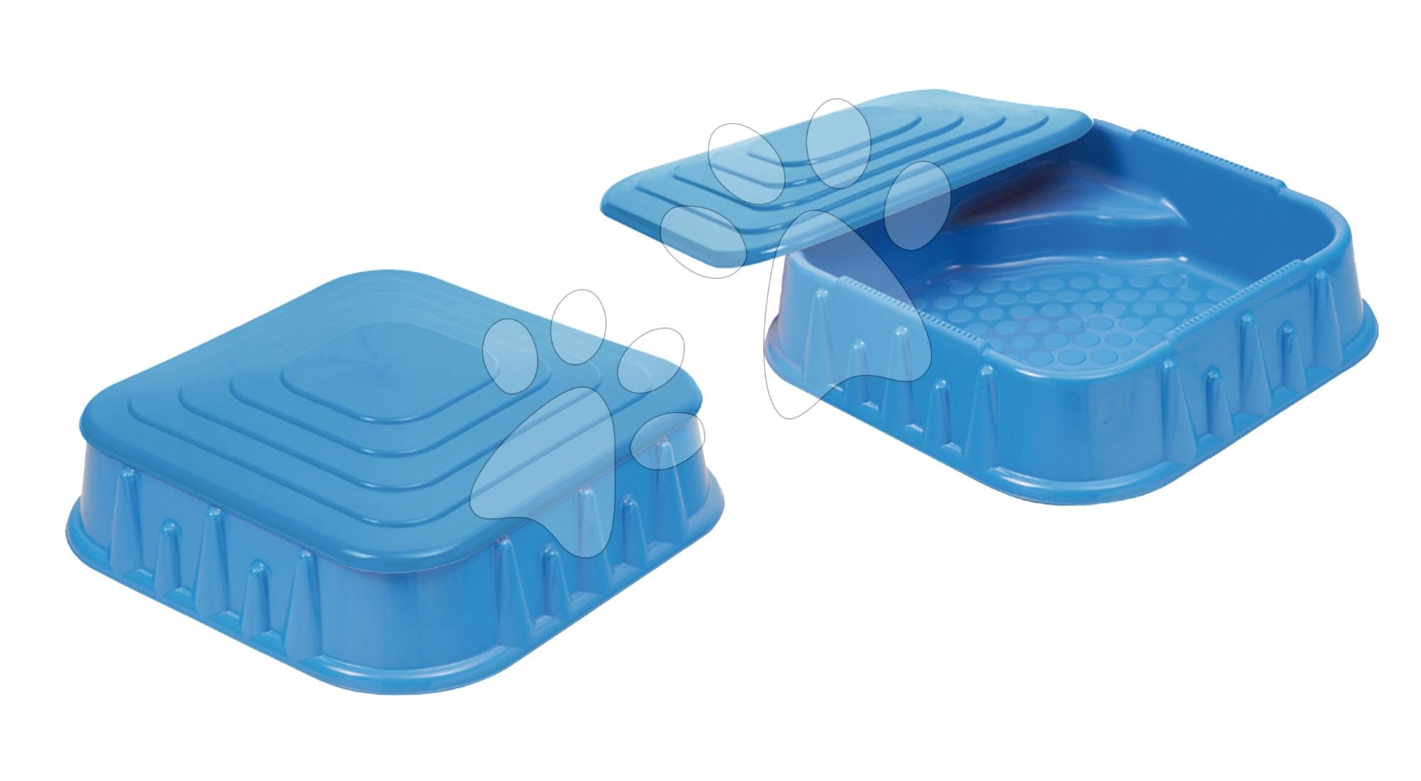 Pieskoviská pre deti - Pieskovisko Starplast štvorec s krytom objem 60 litrov modré od 24 mes