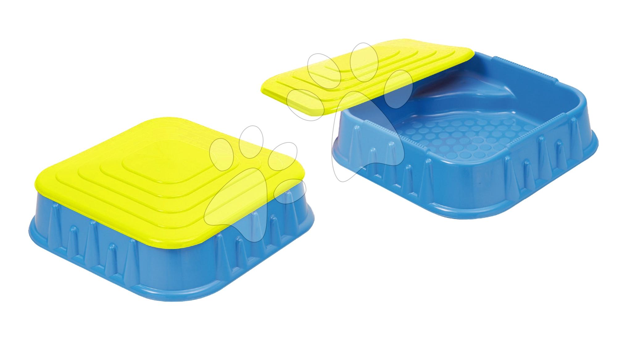 Pískoviště Starplast čtverec s krytem objem 60 litrů modro-žluté od 24 měsíců