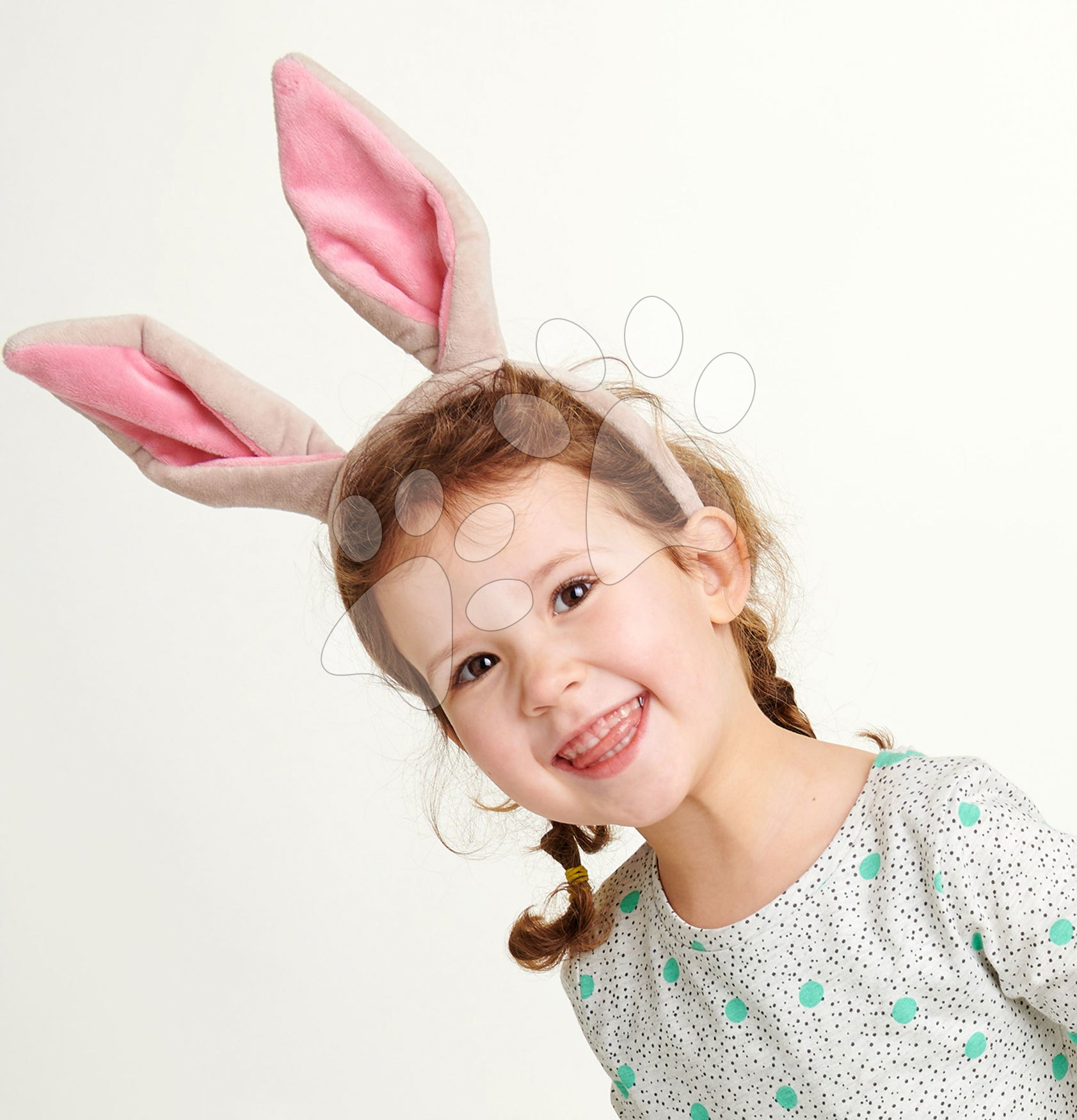 Ušká pre malého zajačika Bunny Ears Headband ThreadBear design z jemnej plyše