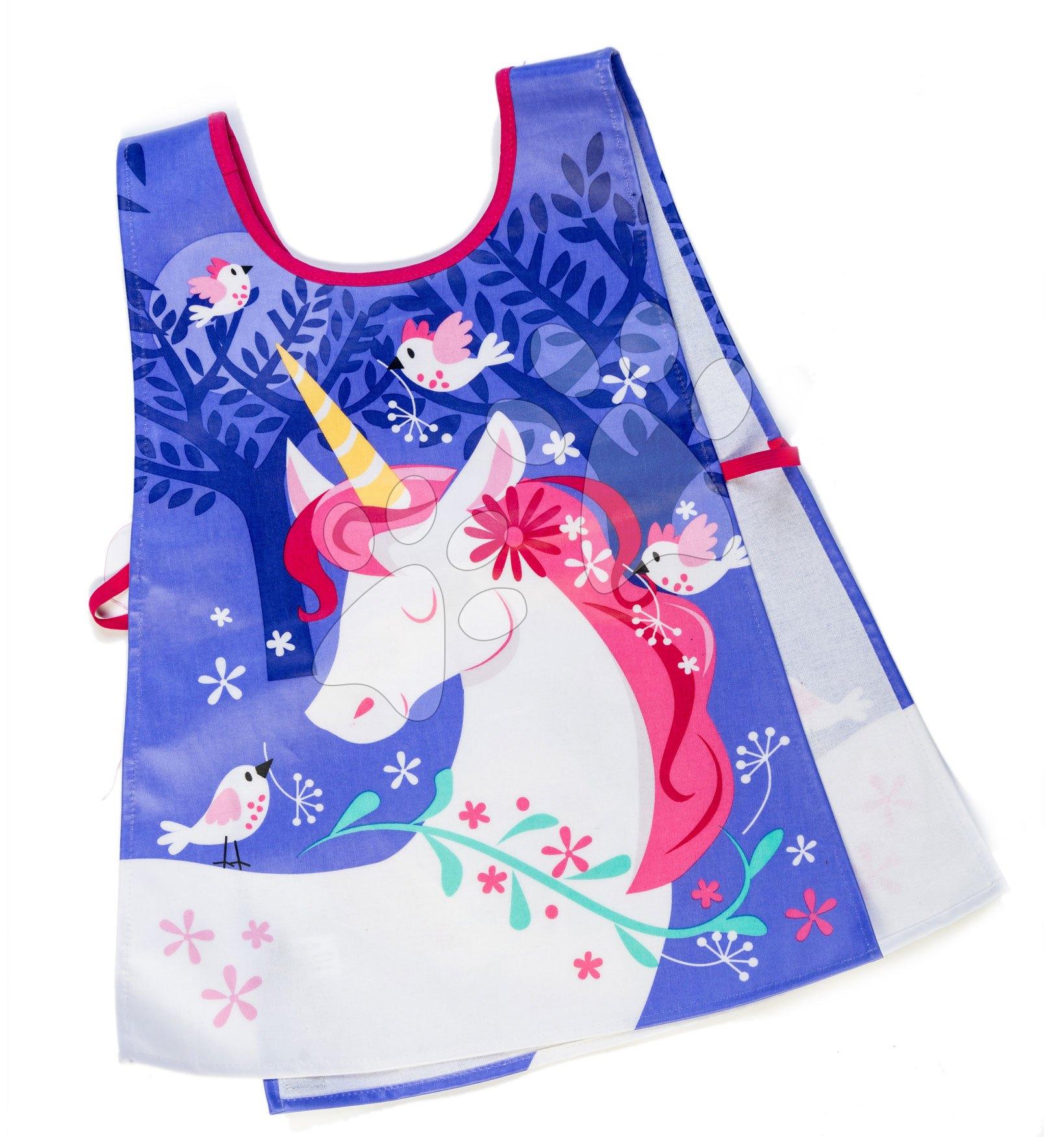 Pregača za djecu s motivom jednoroga Lulu L'Unicorn Tabard ThreadBear sa zaštitnim slojem od 3-6 godina starosti