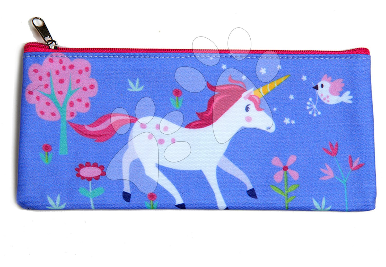 Školske pernice - Pernica od platna jednorog Lulu L'Unicorn Pencil Case ThreadBear sa zaštitnim slojem od 3. godine starosti