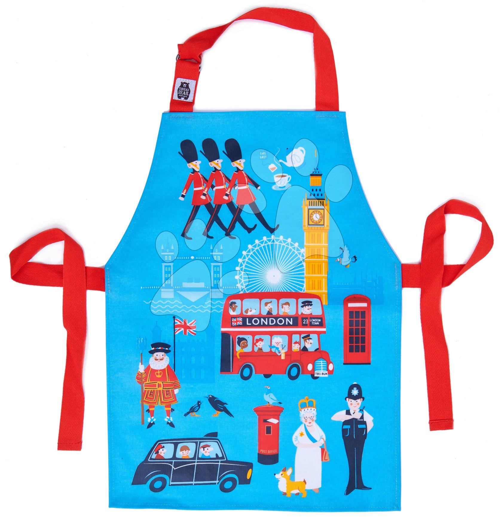 Zástera pre deti mesto London Town Apron ThreadBear s ochrannou vrstvou od 3-6 rokov