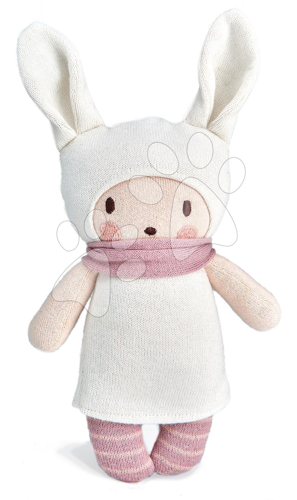 Panenka pletená růžová Baby Baba Knitted Doll ThreadBear 24 cm z jemné a měkké bavlny v dárkovém balení od 0 měsíců