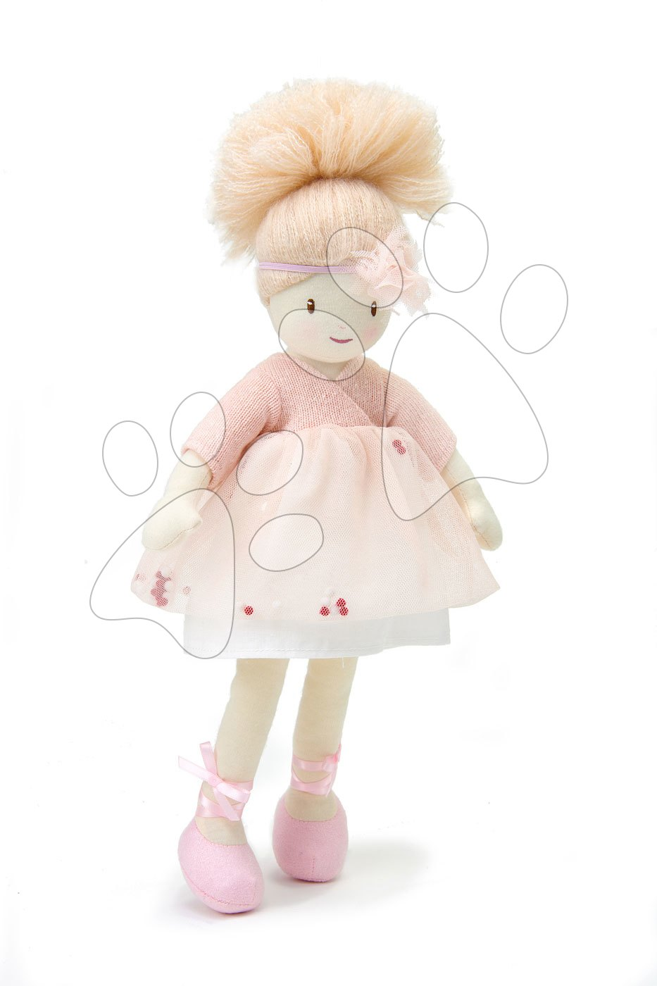 Hadrové panenky - Panenka hadrová Amelie Rag Doll ThreadBear 35 cm z jemné měkké bavlny s blond drdolem