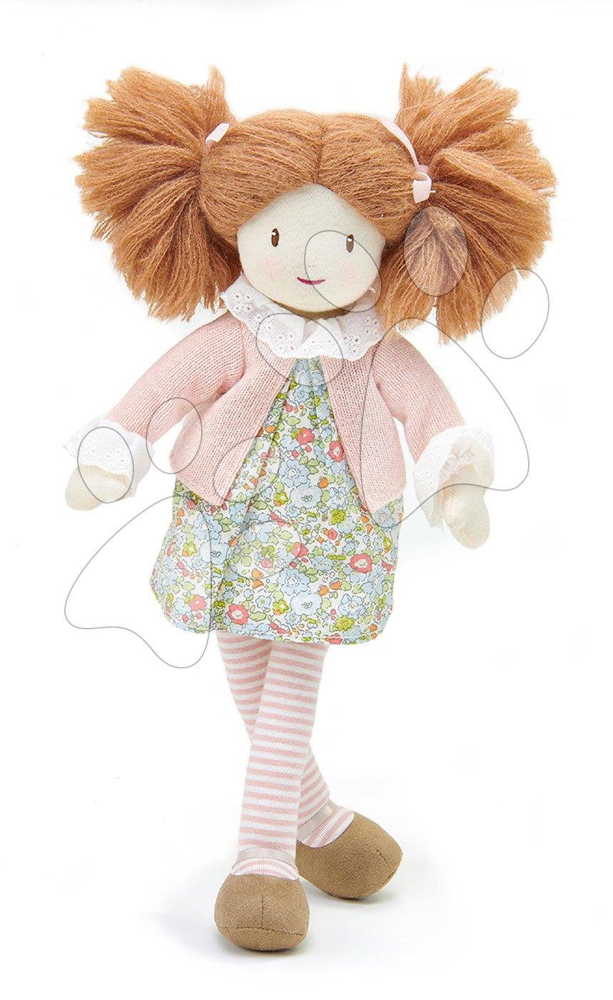 Hadrové panenky - Panenka hadrová Marty Rag Doll ThreadBear 35 cm z jemné měkké bavlny s hnědými culíky