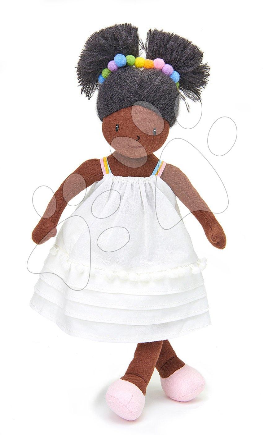 Panenka hadrová Esme Rag Doll ThreadBear 35 cm z jemné měkké bavlny s černými vlásky