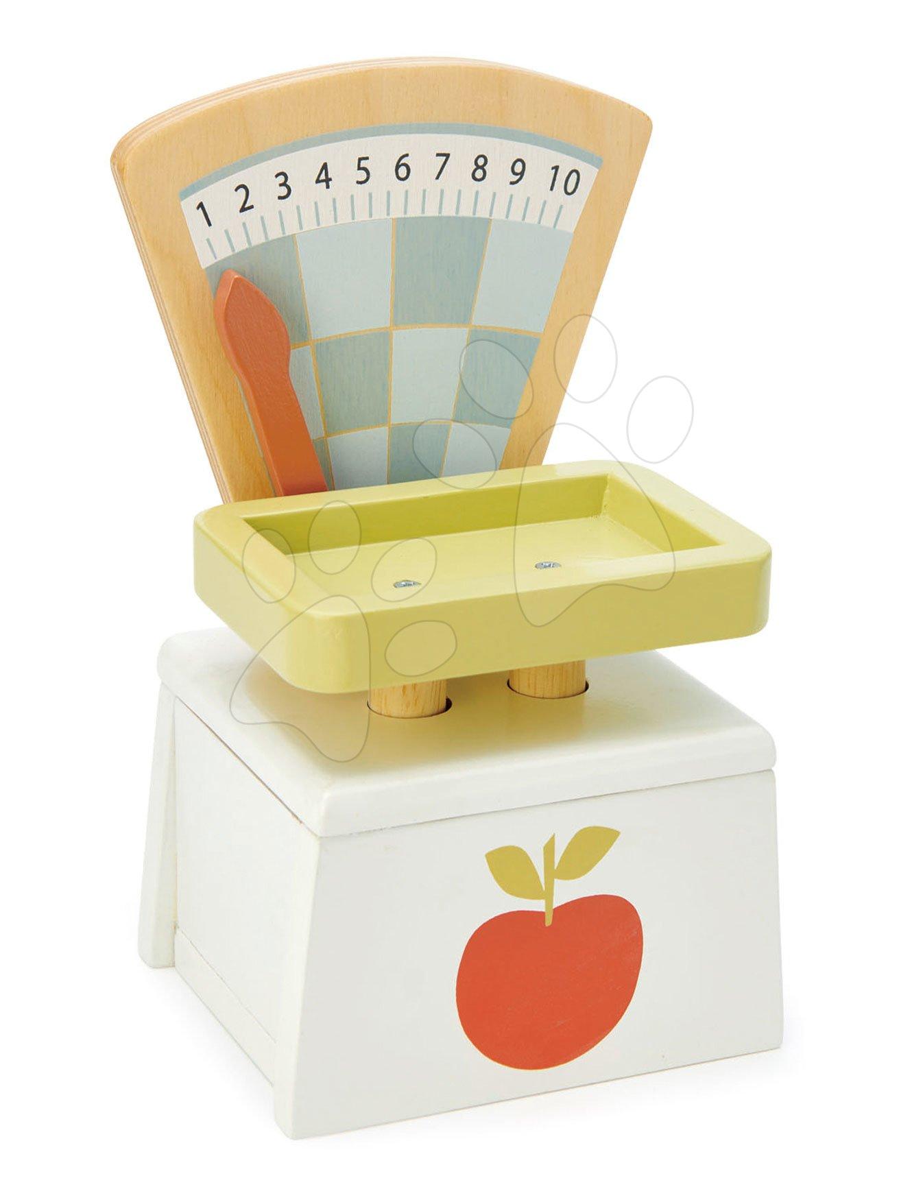 Drevená váha Market Scales Tender Leaf Toys na váženie potravín