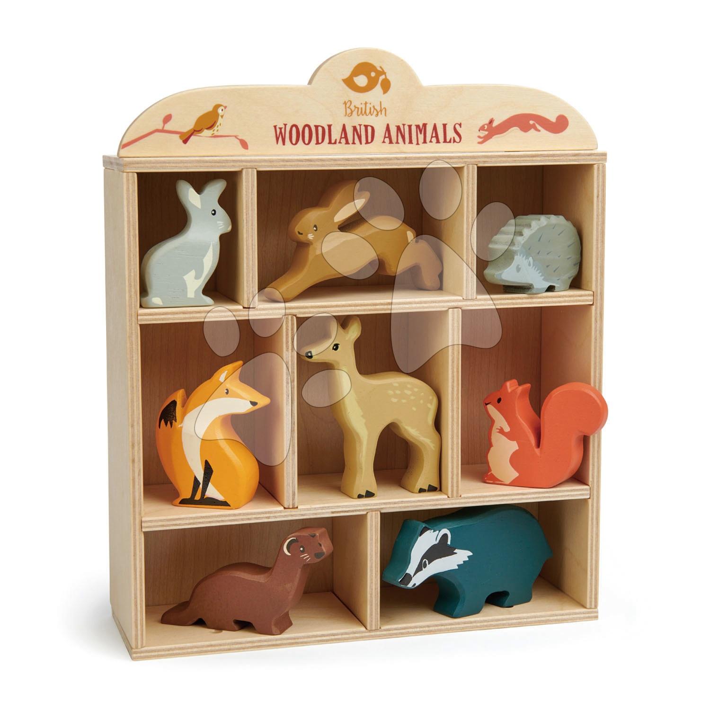 Lesné zvieratká na poličke Woodland Animals Tender Leaf Toys králik, zajac, ježko, líška, srnka, veverička, lasica, jazvec po 3 ks