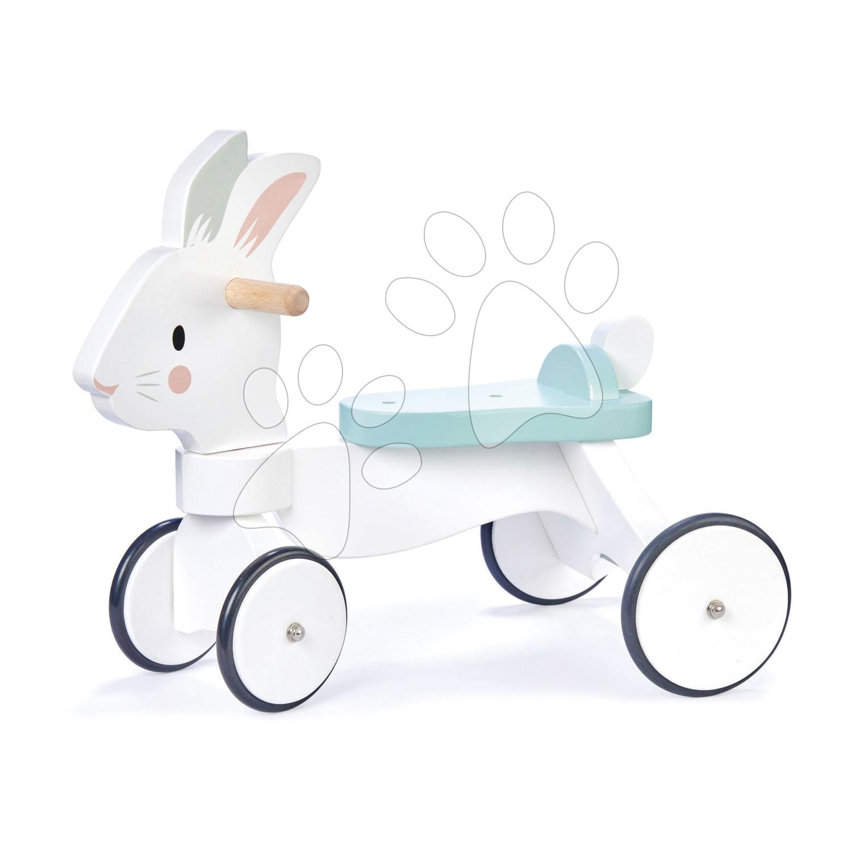 Drevené odrážadlo bežiaci zajac Running Rabbit Ride on Tender Leaf Toys s funkčným predným riadením od 18 mes