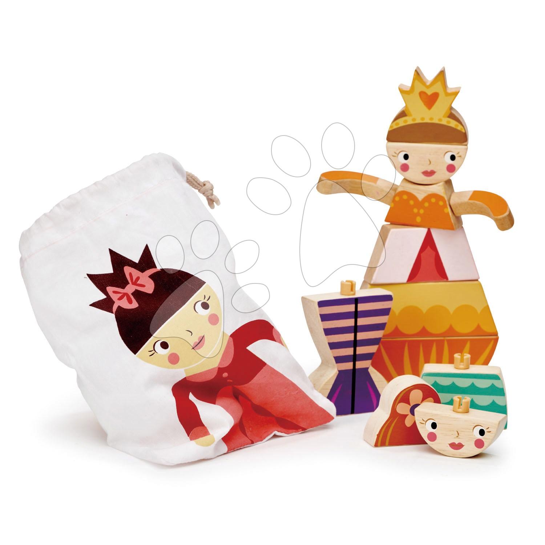 Princezné a víly skladačka Princesses and Mermaids Tender Leaf Toys 15 dielov v plátenom vrecúšku