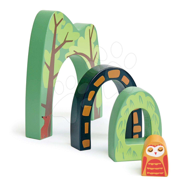Drevený horský tunel Forest Tunnels Tender Leaf Toys 3 druhy s malou sovou uprostred
