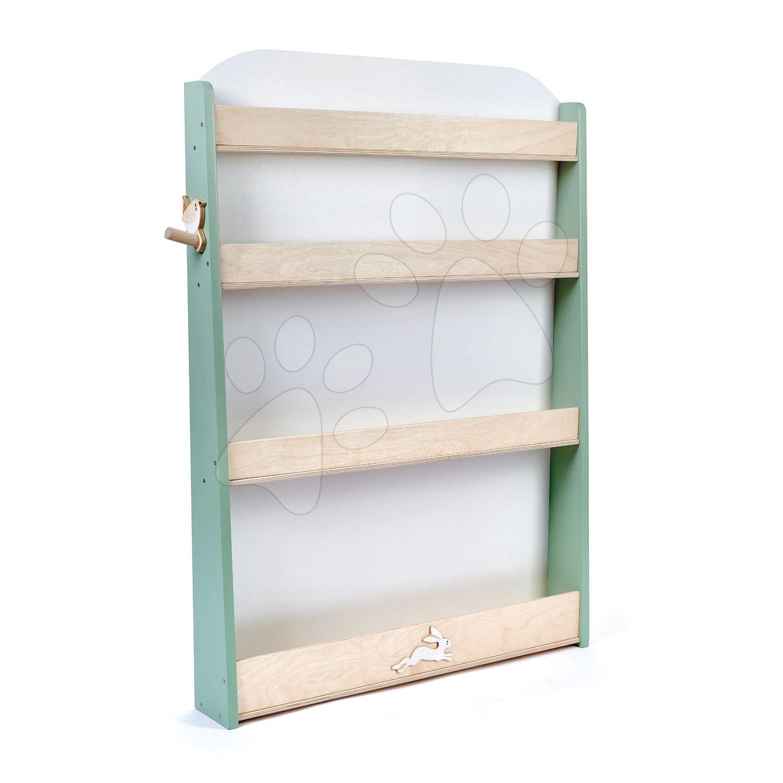 Drevená knižnica pre deti Forest Bookcase Tender Leaf Toys so 4 poličkami