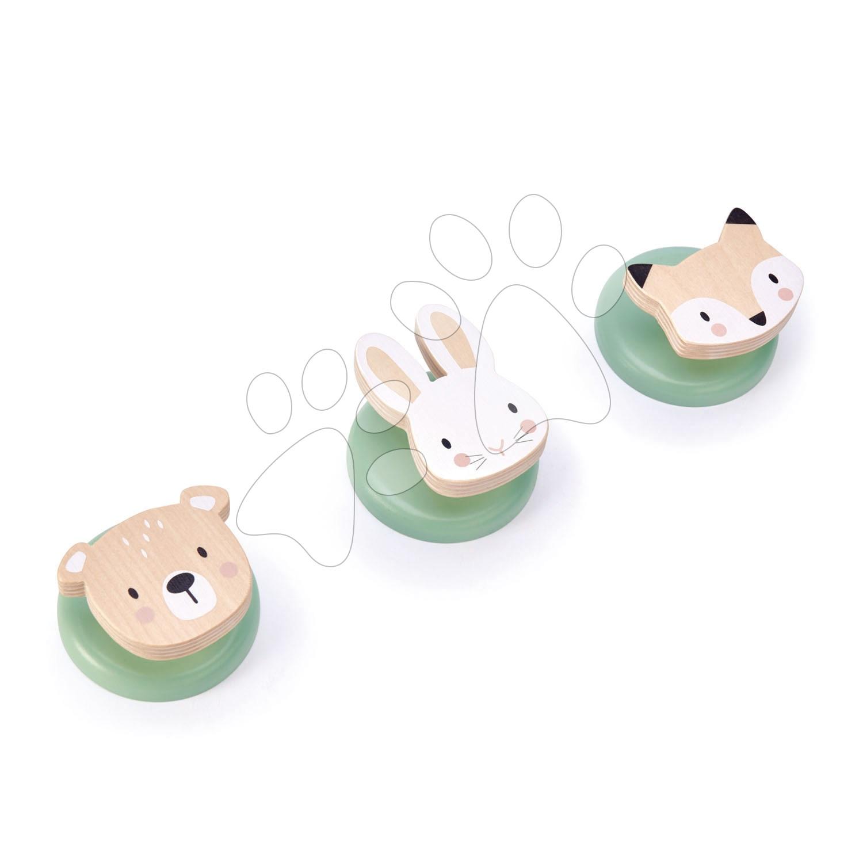 Dřevěné dětské háčky na šaty Forest Hook Tender Leaf Toys medvěd zajíc a liška