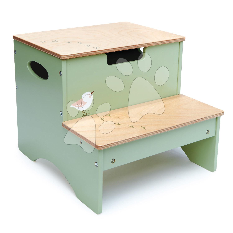 Dřevěné lesní schody Forest Step Tender Leaf Toys s úložným prostorem na hračky