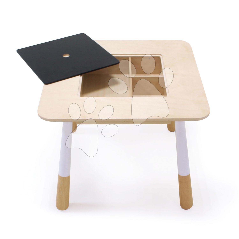 Drevený stôl pre deti Forest Table Tender Leaf Toys s úložným priestorom