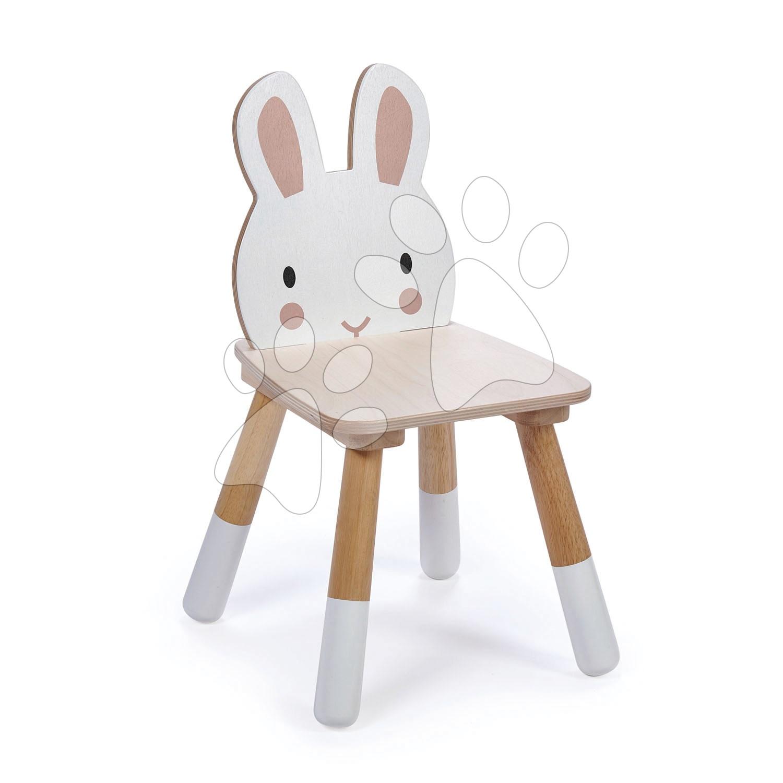 Drevená stolička zajac Forest Rabbit Chair Tender Leaf Toys pre deti od 3 rokov