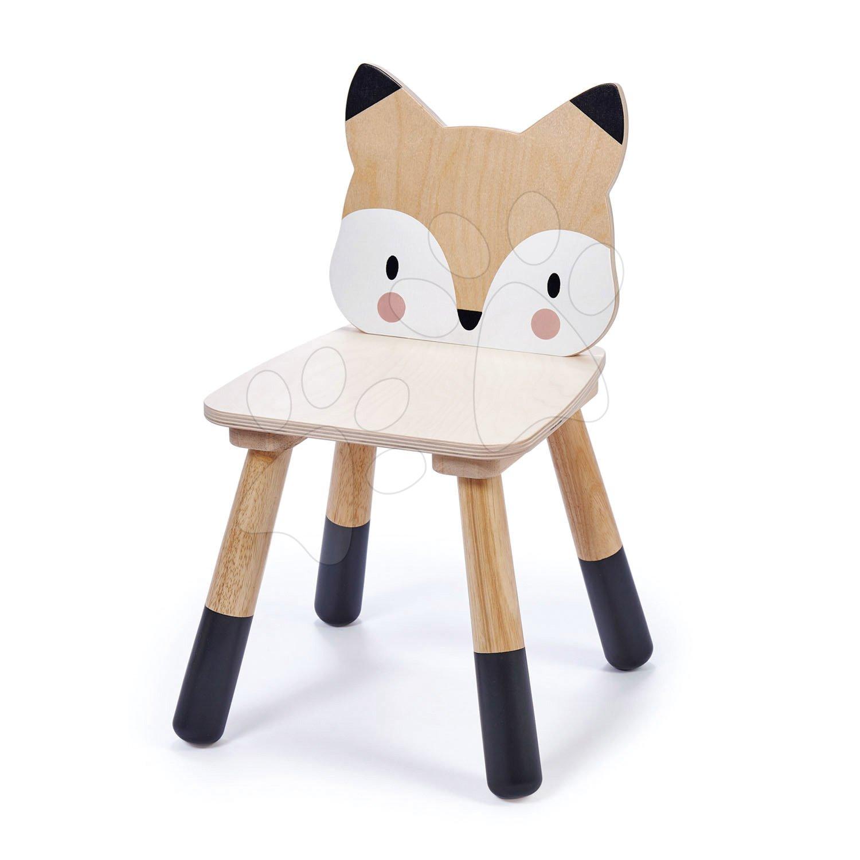 Drevená stolička líška Forest Fox Chair Tender Leaf Toys pre deti od 3 rokov
