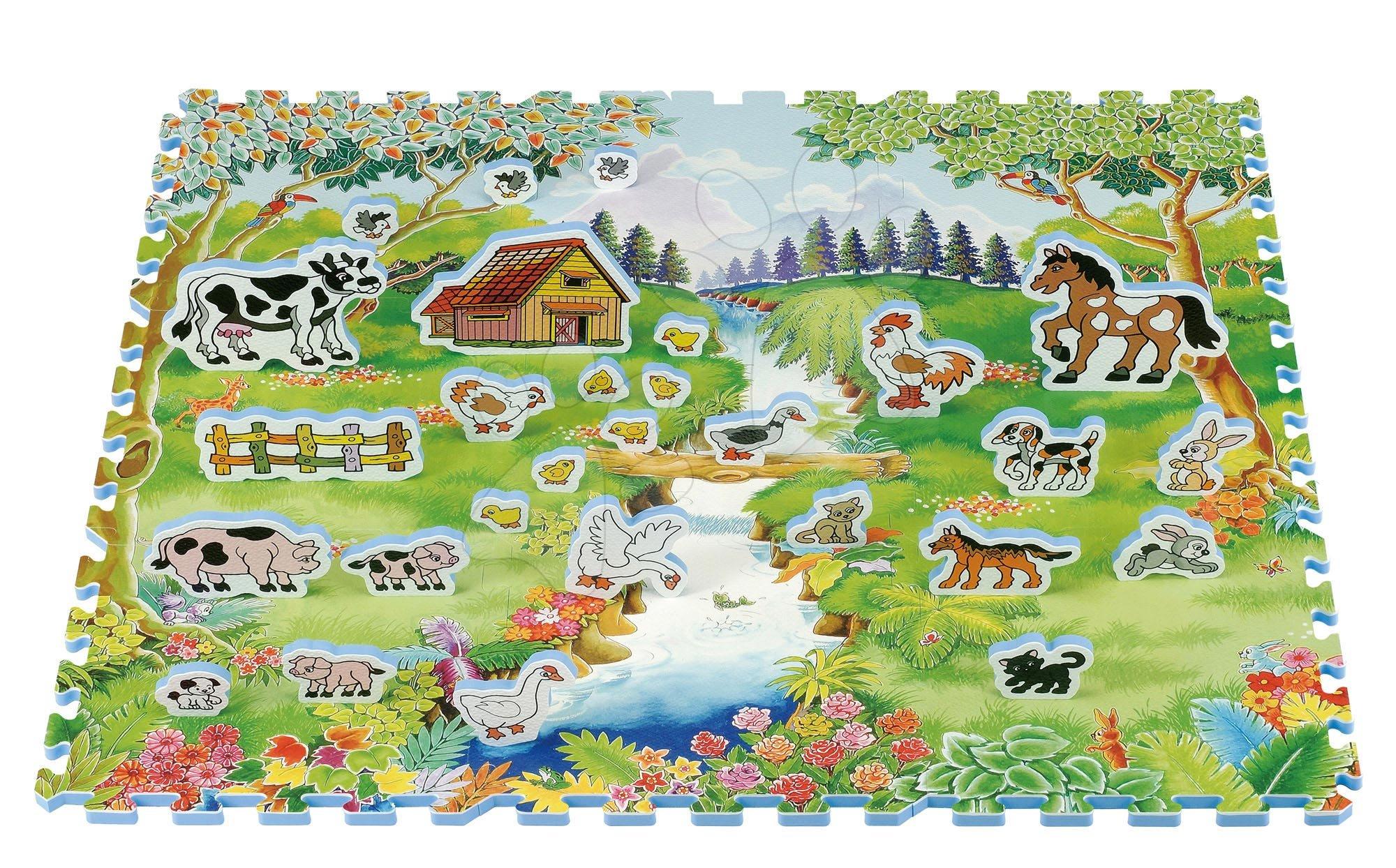 Pěnové puzzle - Pěnové puzzle Home Animal Lee Chyun 40 dílů