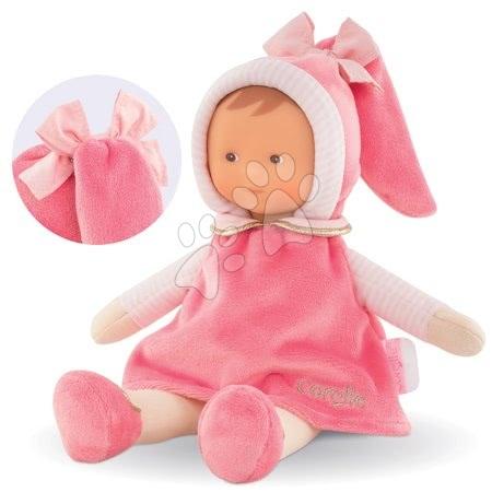 Bábiky od 0 mesiacov - Bábika Miss Pink Sweet Dreams Corolle Mon Doudou ružová s hnedými očami 25 cm od 0 mes