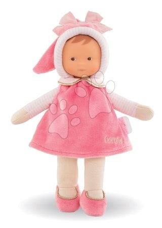 Bábiky od 0 mesiacov - Bábika Miss Pink Sweet Dreams Corolle Mon Doudou ružová s hnedými očami 25 cm od 0 mes_1