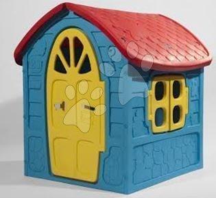 Záhradný domček Dohány s včielkou na streche modro-žltý od 24 mes