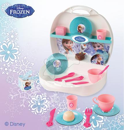 Detská cukráreň Frozen Smoby v kufríku s trblietkami s 19 doplnkami