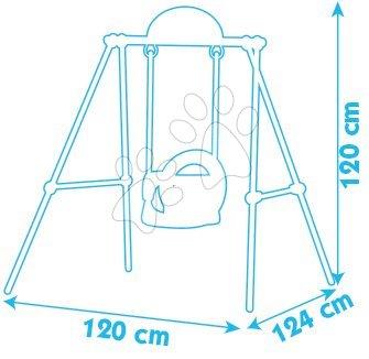 Gyerekhinták - Hinta Portique Smoby fémszerkezettel 120 cm magas 6 hó-tól_1