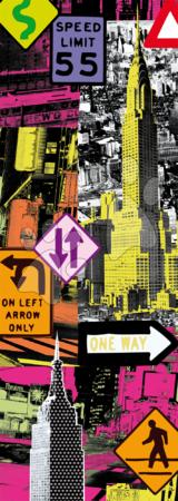 Panoramske puzzle - Puzzle Panorama New York Pop Art Educa 2000 delov_1
