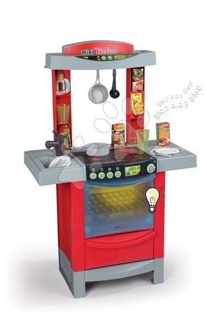 Kuchynka Tefal Cook'Tronic Smoby elektronická so zvukmi, svetlom a 16 doplnkami červená