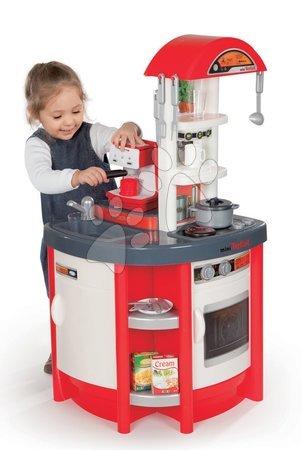 Detské kuchynky - Kuchynka Studio Tefal Smoby elektronická so zvukmi, s kávovarom Espresso Rowenta a 19 doplnkami červená
