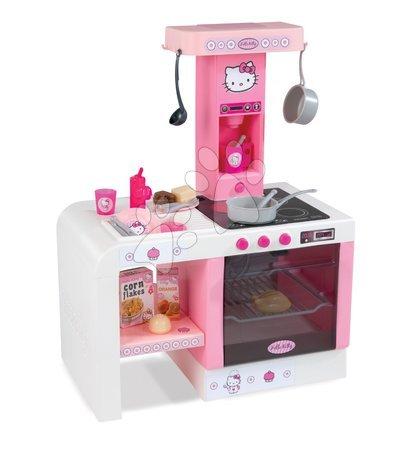 Kuchynka pre deti Hello Kitty Cheftronic Smoby elektronická so zvukmi a 20 doplnkami