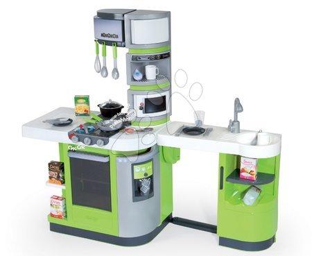 Kuchyňka Cook Master Verte Smoby elektronická se zvuky a 33 doplňky zeleno-šedá