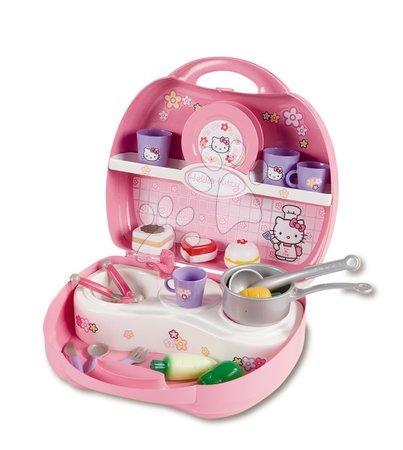 Kuchyňka Hello Kitty Mini Cuisine Smoby v kufříku s 20 doplňky světle růžvá