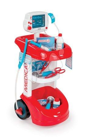 Medicinska kolica za djecu - Medicinska kolica Smoby sa zvukom i tlakomjerom i 12 dodataka