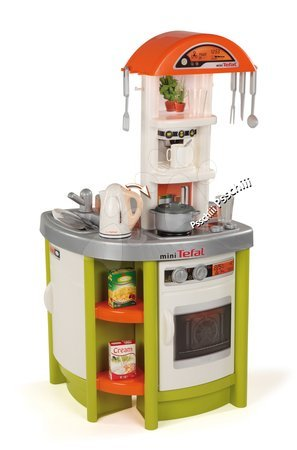 Kuchyňka Tefal Studio Smoby elektronická s rychlovarnou konvicí a 19 doplňky zelená