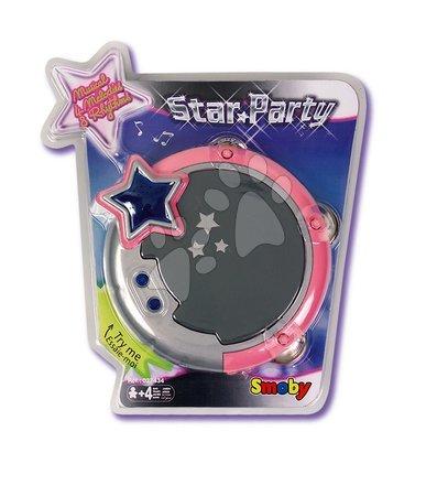 Detské hudobné nástroje - Tamburína Star Párty Smoby elektronická s melódiami od 4 rokov