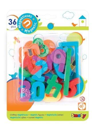 Dětské magnety Smoby čísla 36 kusů