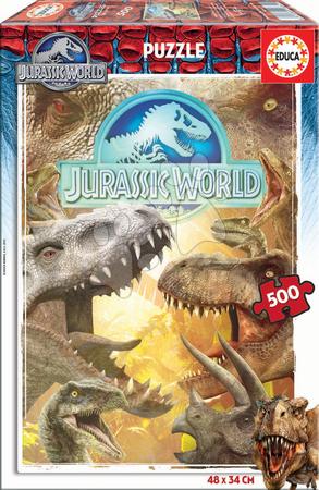 EDUCA 16341 Puzzle Cardboard Jurassic World 500 dielikov