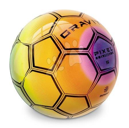 Sportlabdák - Focilabda szivárványos BioBalls Gravity Mondo gumiból 23 cm