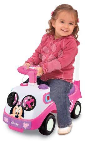 Odrážadlo Disney Minnie Kiddieland elektronické so svetlom a zvukom od 12 mesiacov ružové