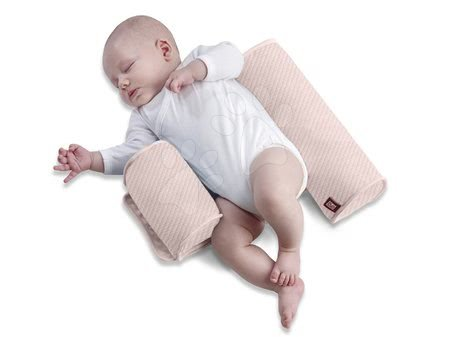 Red Castle - Hniezdo na spanie pre bábätká Bébécal™ Red Castle do postele ružové od 0 mesiacov