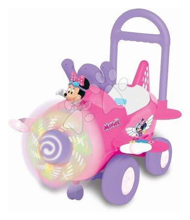 Minnie Mouse - Odrážedlo letadlo Minnie Kiddieland s přední vrtulí se zvukem a světlem od 12 měsíců