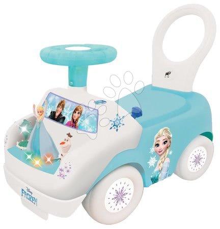 Poganjalec z zvokom in lučko Frozen Kiddieland z originalno pesmico s filma od 12 mes