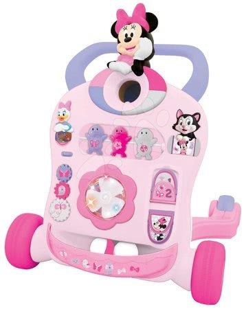 Sprehajalček z zvokom in lučko Minnie Mouse&Friends Activity Walker Kiddieland od 9 meseca