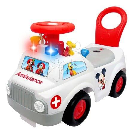 Odrážadlá so zvukom - Odrážadlo sanitka Ambulance Mickey Kiddieland so 7 doplnkami a so zvukom a svetlom od 12 mes