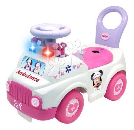 Minnie Mouse - Odrážedlo sanitka Ambulance Minnie Kiddieland se 7 doplňky a se zvukem a světlem od 12 měsíců