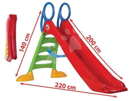 Tobogan Dohány dolžina 2 m rdeč