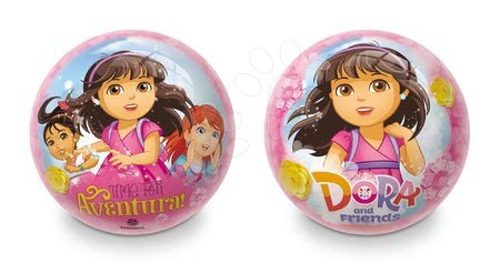 Mingi de poveste - Minge cu motiv de poveste din cauciuc Dora Time Mondo 23 cm