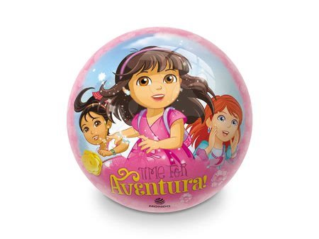 Mingi de poveste - Minge cu motiv de poveste din cauciuc Dora Time Mondo 23 cm_1