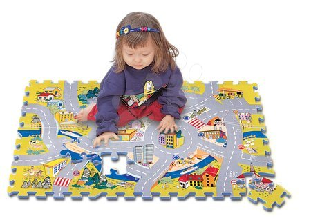 Puzzle 54 pcs Road Map Puzzle - mapa ciest 62*92*1,2 cm